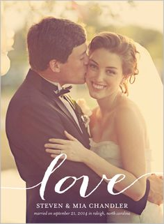 Create elegant and romantic wedding photo announcements from Shutterfly.com