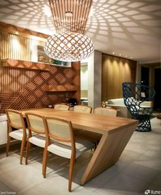 Luminária Pendente Kina @maislume Dining Table, Decor, Furniture, Table, Home, David Trubridge, Home Decor