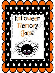 Halloween Memory Matching Game FREEBIE: Words and Pictures from Wife Teacher Mommy on TeachersNotebook.com -  (9 pages)  - This Halloween FREEBIE is great for teachers and parents alike! Children will love flipping over the cards and trying to make matches!