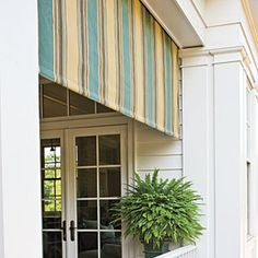 Awning A Retractable With Sunbrella Fabric Keeps The Porches Shaded Which Is Always