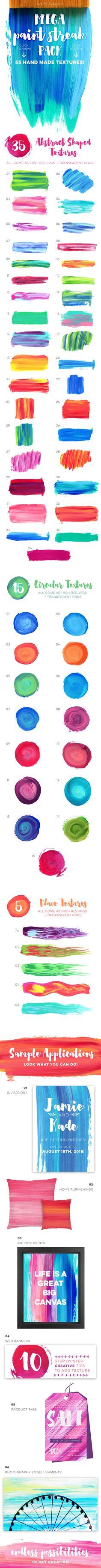 Mega Paint Streak Pack by everytuesday on Creative Market