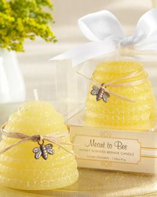 Meant to Bee Honey-Scented Beehive Candle (Set of 4) #wedding #favor #bridal$1.63