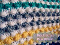 Crochet bubble stitch baby blanket