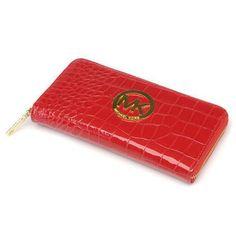 Michael Kors Snake Embossed Large Red Wallets