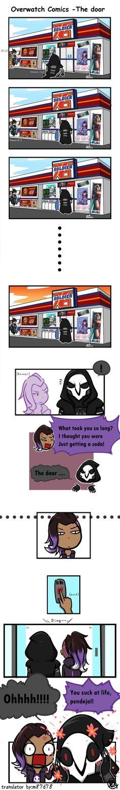 Overwatch Comics -The door #comics #overwatch #reaper #sombra #tracer #fanartwatch