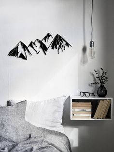 Metal Wall Art Mountains Steel Home Decor Interior Sign Scandi #wallart  #walldecor #nature #interiordecor #mountains #madeofsteel #metalwallart  #wallhanging ...