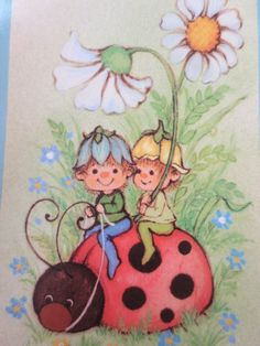 Vintage Cards Playing Cards Mushroom Cute Elf Cards by BettyAndDot