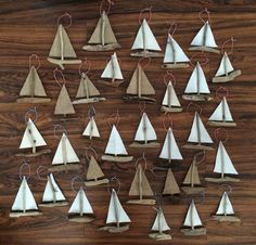 Hanging Sailboat Mini's  Driftwood Christmas by WigglyWilliam