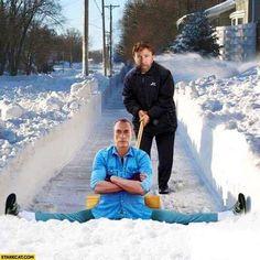 Такого снегопада давно не знали здешние края...