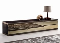 MODERN FURNTIRE | mirrored sideboard front | bocadolobo.com/ #modernsideboard #sideboardideas