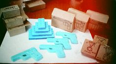 Lego and gun soap.