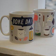 Bore Da coffee mug