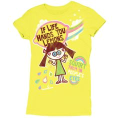 Love these graphic tees by David & Goliath ' If Life Hands You Lemons - Squirt them in people's eyes'