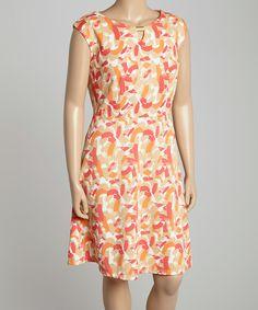 Coral A-Line Dress #zulily $24.99