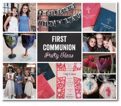 Ideas for Planning a First Communion Party