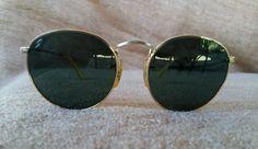 VINTAGE Round John Lennon RAY-BAN B L U.S.A GOLD Color W0607 Sunglasses   RayBan 67c1c5356751