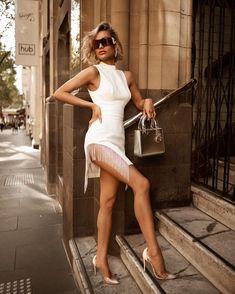 White Fashion, Look Fashion, Girl Fashion, Fashion Outfits, Fashion Women, Micah Gianneli, Fashion Vocabulary, Poses, Blonde Beauty