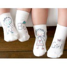 1 Pair Menina Menino Bebê Crianças Infantil Pé Sock Chinelos Meias Macio Não-slip Bota Manguito(China (Mainland))