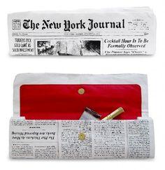 Newspaper Clutch