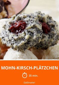 Mohn-Kirsch-Plätzchen Poppy Cherry Cookies is a recipe with fresh ingredients from the category cookies. Try this and other recipes from EAT SMARTER! Christmas Baking, Christmas Cookies, Christmas Recipes, Christmas Traditions, Merry Christmas, Easy Cookie Recipes, Cake Recipes, Cherry Cookies, Cakes And More