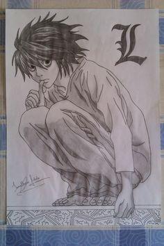 My drawings: Death Note, L (1) by Yonato.deviantart.com on @deviantART