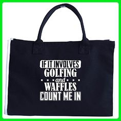 If It Involves Golfing And Waffles Count Me In - Tote Bag - Top handle bags (*Amazon Partner-Link)