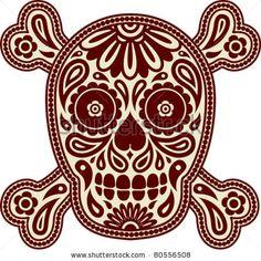 Set Of Pirate Flags Skulls Skull With Bones Jolly Roger
