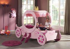 Łóżko dla dziewczynki Różowa Kareta http://dladziecka-net.pl/
