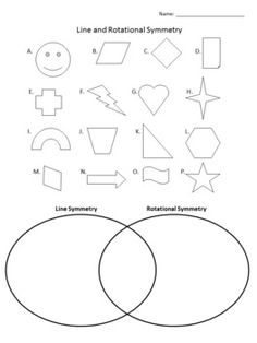 Shapes Reflective Symmetry Worksheets - identify reflective symmetry ...
