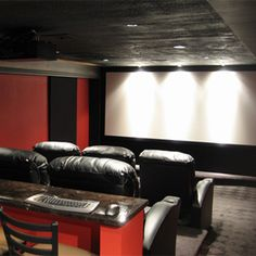 basement theater idea realistic space and cost arrangement home