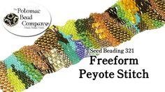 Freeform Peyote Stitch  #Seed #Bead #Tutorials