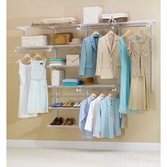 Rubbermaid FG3H8900WHT 4' to 8' Deluxe Closet Kit White (Closet Storage) (Plastic)