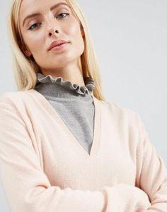 ASOS - Pettorina in maglia con colletto a volant