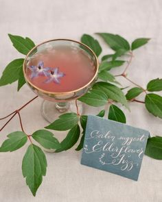 Sweet Sips / The bride's signature cocktail, the elderflower fizz, was made with sparkling wine and Longueville House's own elderflower liqueur and garnished with blossoms from the estate's garden.