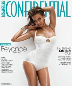 Who made Beyonce Knowles' jewelry that she wore on the cover of Los Angeles Confidential Magazine, March 2009? Jewelry – Rebecca Melrose  Bathing suit – Herve Leger