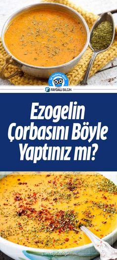 Soup Recipes, Recipies, Turkish Recipes, Ethnic Recipes, Turkish Kitchen, Ham, Cantaloupe, Food And Drink, Pasta