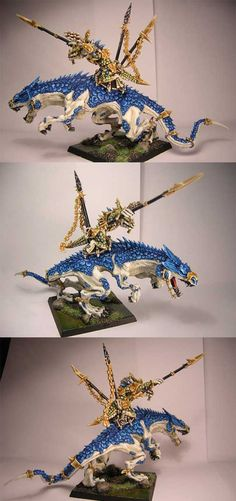 Lizardmen Oldblood on Carnosaur