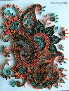 tealcup quilling gallery - Intricacy 1