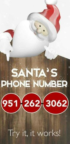 Santa Claus - Here's his Phone Number If you want to have some fun with the kiddos, then you'll definitely want to call up good ol' Santa Claus.If you want to have some fun with the kiddos, then you'll definitely want to call up good ol' Santa Claus. Noel Christmas, Little Christmas, Winter Christmas, All Things Christmas, Christmas Hair, Christmas Wishes, Centerpiece Christmas, Christmas Decorations, Christmas Activities