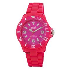 Women  Watches - IceWatch Womens CFPKBP10 Classic Fluo Pink Polycarbonate Watch *** More info could be found at the image url. (This is an Amazon affiliate link)