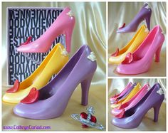 Chocolate Stiletto Shoes available from Cathryn Cariad Chocolates - www.CathrynCariad.com * Vivienne Westwood inspired *