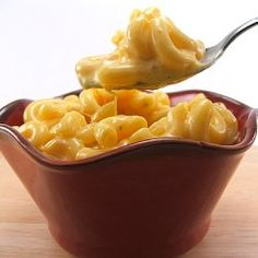 Creamy macaroni and cheese made on the stove top.