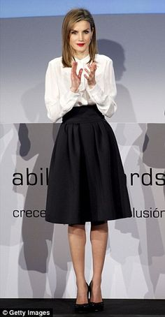The Spanish Queen was attending the Telefonica Ability Awards in Madrid, which recognise c...