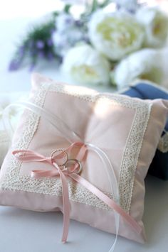 lovely pink wedding pillow