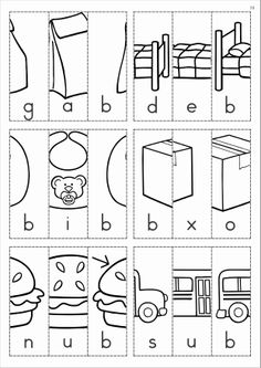 math worksheet : free word families  picture scramble cut and paste booklets  : Cut And Paste Worksheets Kindergarten