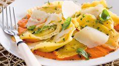 Ravioli mit Soße von gerösteten Paprika - Zeit für Paprika