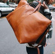 Beautiful big #brown #leather #weekendbag