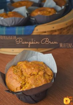 Pumpkin Bran Muffins...bake now or keep batter in the refrigerator for up to a week!