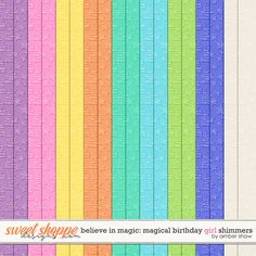 Believe in Magic Magical Birthday - Girl: Shimmers by Amber Shaw