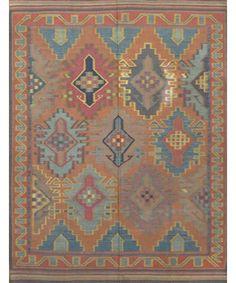 "Caucasian Old Kilim Rug CC2199-Design# 1360, Size- 4'-8"" X 6'-4""  #carpet #rugs #flooring #office #home #decoration #bedroom #livingroom #diy #handmade #best #cleaning #modern #design #runner #print"